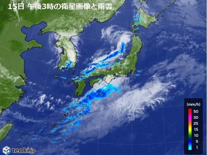 西日本に活発な雨雲や雷雲 ザーザー降りの雨も