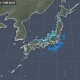 日本海側で『ひょう』を観測