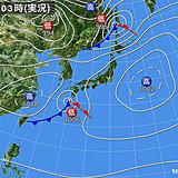 19日 九州~近畿は雨 雲多いけど気温4月並み