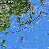 22日 日本海側は寒の戻り 太平洋側は汗ばむ所も