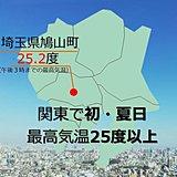 関東で今年初の夏日 埼玉県鳩山町で