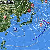 27日 西・東は春の日差し でも北陸は天気急変