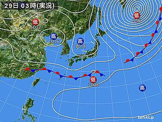 29日 東海以西は春本番 関東以北はヒンヤリ
