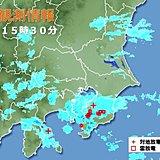 関東大気不安定 南部では落雷も 今夜の雨は