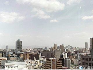 大阪、名古屋など続々と黄砂を観測