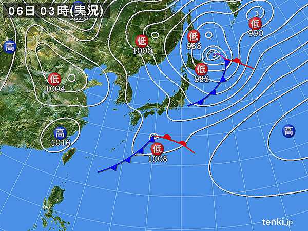 6日(土)の天気
