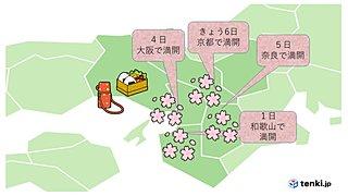 近畿 京都でさくら満開