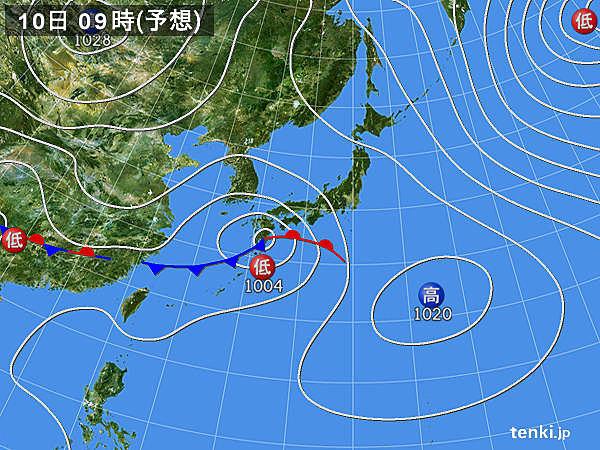 10日(水)九州~近畿は大雨の恐れ 関東の気温は2月下旬並み