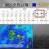 東京都心 通勤時も帰宅時も雨具必要