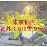 東京都内でも季節外れの積雪の恐れ