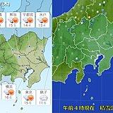 11日の関東 日差し戻るが 北風強い
