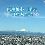 東京都心 冷たい北風が続く