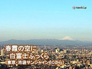 関東 13日は春らしい陽気 日曜は曇り空から雨に