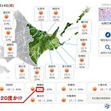 北海道ぽかぽか陽気 今年初20度か