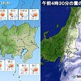 関東 18日 初夏のような陽気