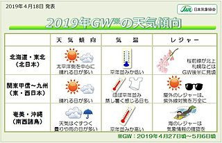 ゴールデンウィークの天気傾向 日本気象協会発表