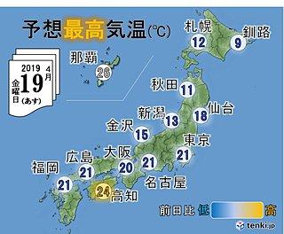 空気感変わる日本海側 半袖では風邪ひきます