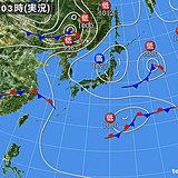 23日 中国地方や近畿北部まるで夏 西から次第に雨