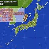 松江などで7月並みの暑さ 大阪は2日連続夏日