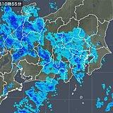 関東甲信地方 雨雲広がる このあと雨風強まる所も