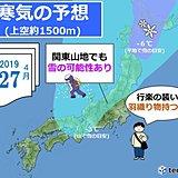 平成最後の寒気団 GW初日を直撃! 関東でも雪か