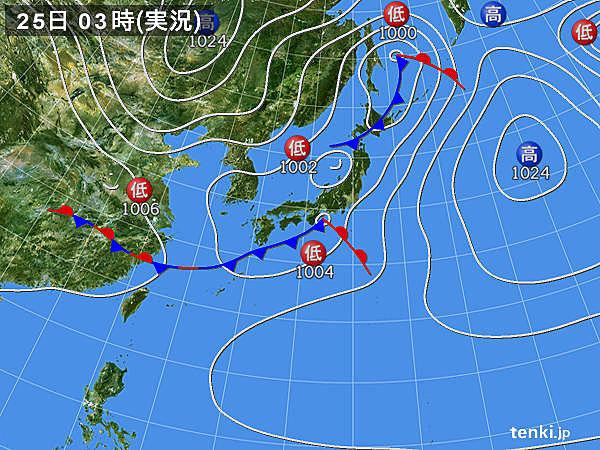 25日 日が差しても急な雷雨 梅雨のような蒸し暑さ