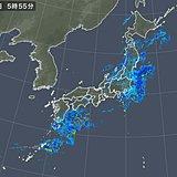 あちこち雨雲 局地的に発達 九州南部で激しい雨