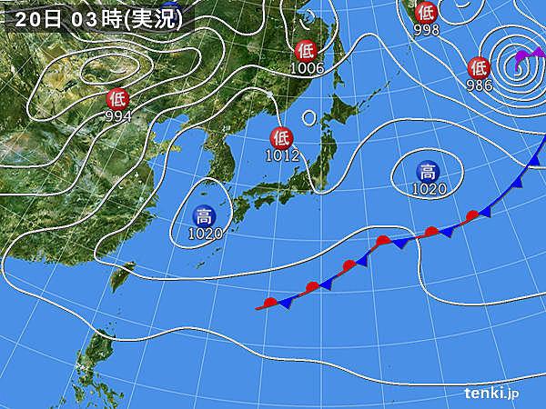 20日 広く夏日 九州では30度予想も