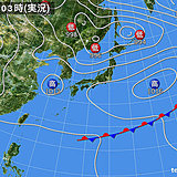 9日 雲が多く九州は雨 北海道は天気急変に注意