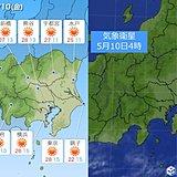 10日関東 7月並みの暑さ 最高気温30度近い所も