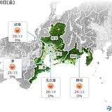 東海 10日はからっとした暑さ