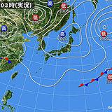 13日 にわか雨や雷雨 関東甲信や東海は平野でも