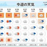 週間 曇りや雨の日多い 激しい雨も 蒸し暑くなる