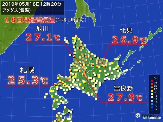 札幌 今年初の夏日に!
