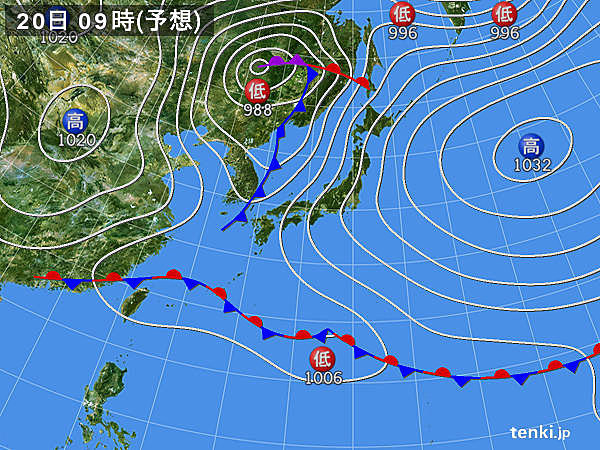 月曜日以降 東日本も大雨