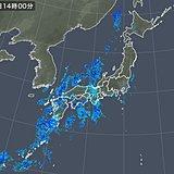 四国に活発な雨雲 関東も雨降り出す
