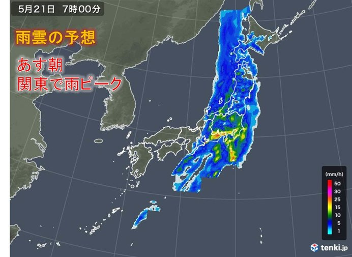 激しい雨に警戒 近畿は今夜遅く 東海や関東はあす朝_画像