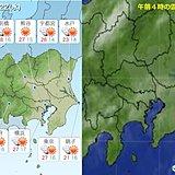 22日関東 日差し戻り カラッとした暑さ