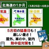 1か月予報 北海道で猛暑日!熱中症に注意