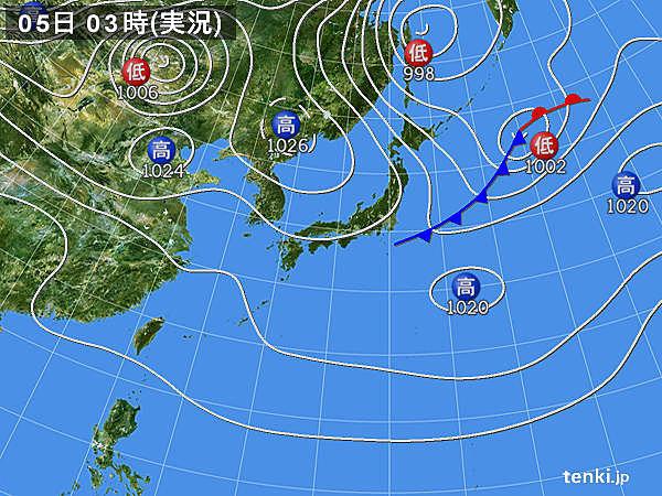 5日 関東以西の暑さ収まる 所々で雨