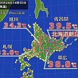 北海道で39.5度! 史上初の高温に!