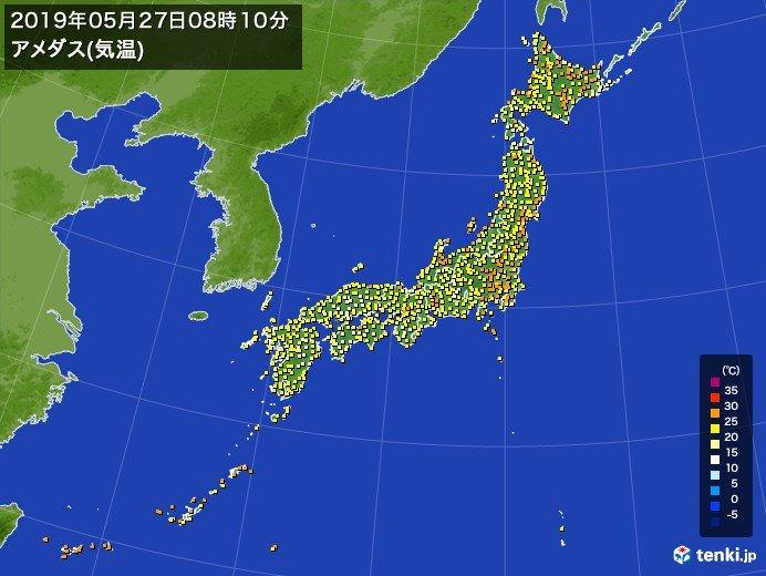 けさも早くから気温が上昇している北海道
