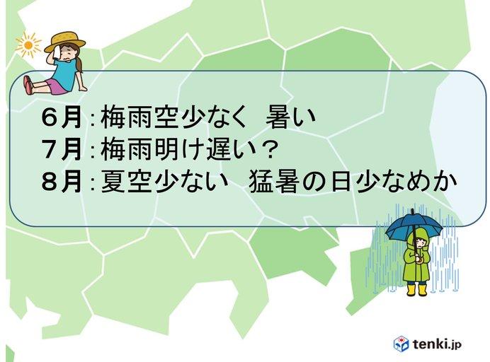 関東甲信 今年の梅雨や真夏の傾向は?
