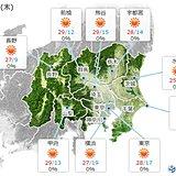 30日の関東 広く晴れ 日差しの有効活用を