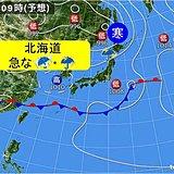 北海道 1日は急な雨や雷雨に注意