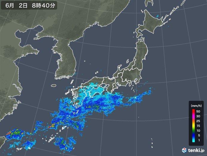 2日〜3日 梅雨前線 沖縄付近で活動が活発に