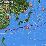 3日 沖縄は梅雨空 太平洋側は急な雨に注意