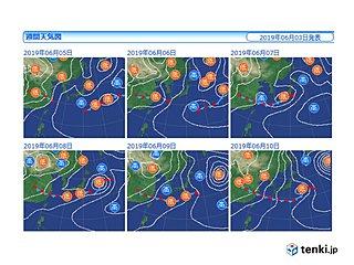 7日~8日 大雨の恐れ 本州でも梅雨入りか
