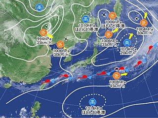 鹿児島県でどしゃ降りの雨 北海道で最低気温5度未満