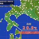 北海道で異例の高温 半月連続20度以上に
